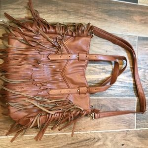 Light Brown Purse with Fringes